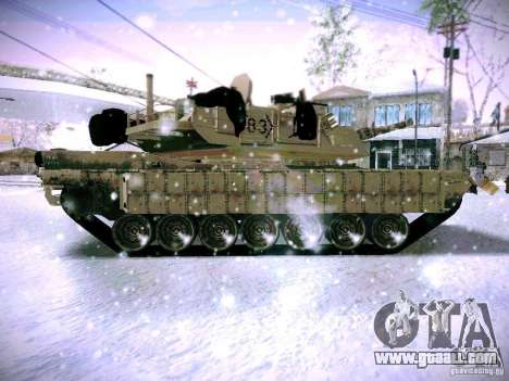M1A2 Abrams of Battlefield 3 for GTA San Andreas left view