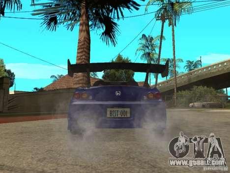 Honda S 2000 for GTA San Andreas back left view