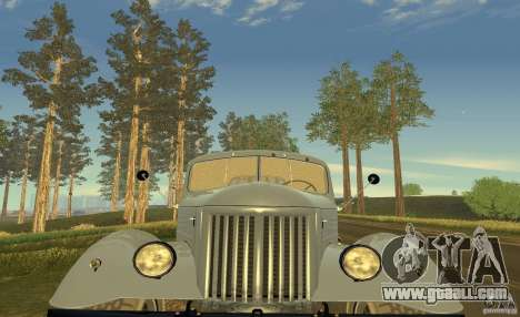 ZIL 164 Tractor for GTA San Andreas bottom view