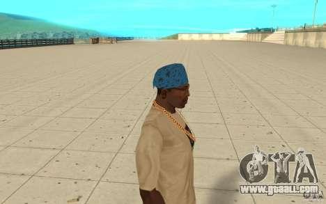 Bandana blue maryshuana for GTA San Andreas second screenshot