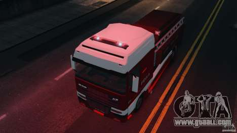 DAF XF Firetruck for GTA 4 right view