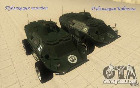 APCS of the GTA 4 TBOGT Original With Texture for GTA San Andreas right view
