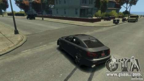 Lexus IS F for GTA 4 upper view
