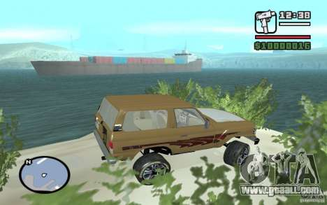 Toyota Land Cruiser 70 for GTA San Andreas left view