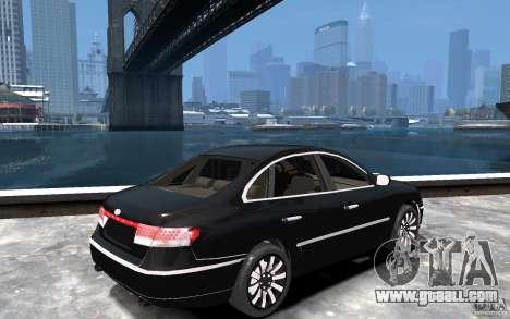 Hyundai Azera 2008 for GTA 4 right view