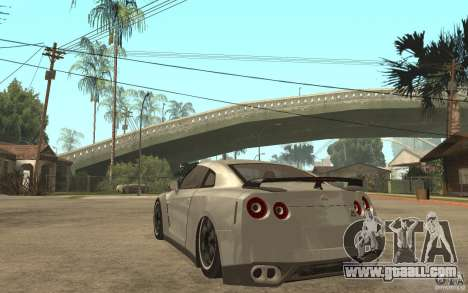 Nissan GTR SpecV 2010 for GTA San Andreas back left view