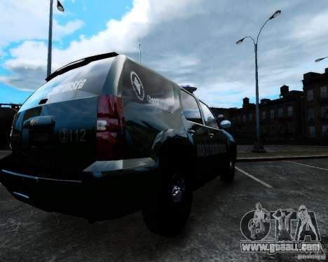 Chevrolet Tahoe Hungarian Vam-Zoll Custom for GTA 4 left view