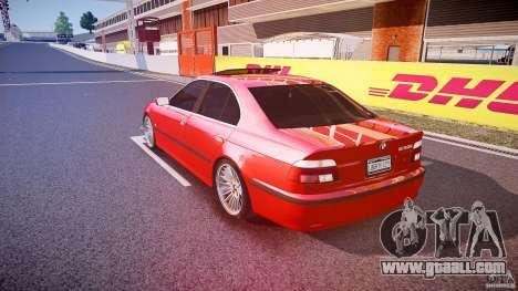 BMW 530I E39 stock chrome wheels for GTA 4 back left view