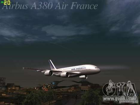 Airbus A380-800 Air France for GTA San Andreas wheels