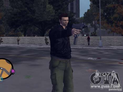 Claude HD from GTA III for GTA Vice City second screenshot