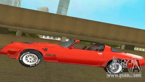 Pontiac Trans Am 77 for GTA Vice City side view