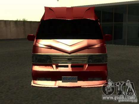 Toyota Hiace Vanning for GTA San Andreas inner view