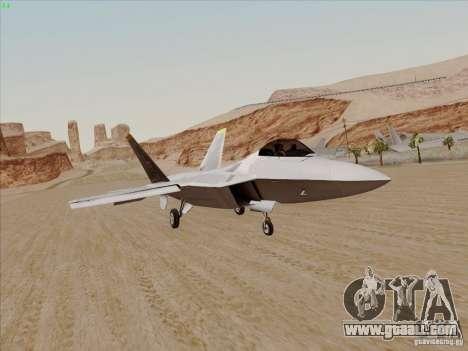 FA22 Raptor for GTA San Andreas