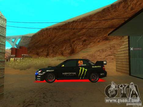 Subaru Impreza Gymkhana Practice for GTA San Andreas right view