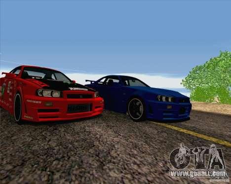 Nissan Skyline R34 Z-Tune V3 for GTA San Andreas side view