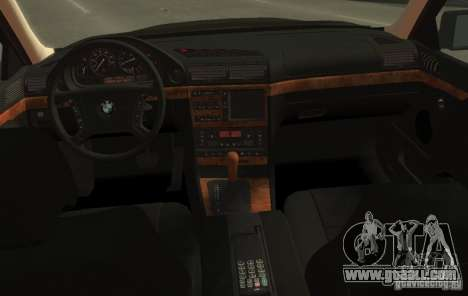 BMW 750i E38 1998 M-Packet for GTA 4 back view