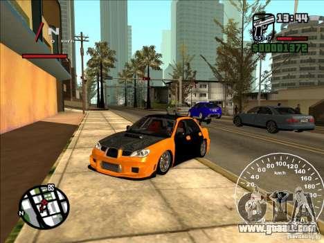 Subaru Impreza WRX Sti 2006 Elemental Attack for GTA San Andreas