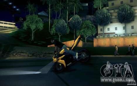 Yamaha YZF R1 for GTA San Andreas upper view