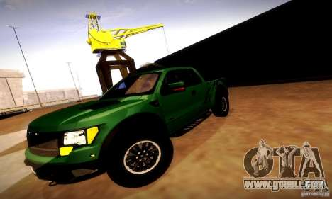 Ford F-150 SVT Raptor V1.0 for GTA San Andreas upper view