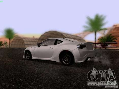 Toyota 86 TRDPerformanceLine 2012 for GTA San Andreas right view
