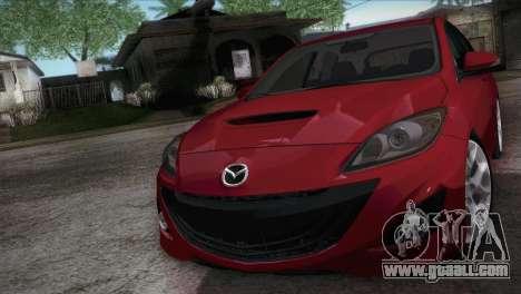 Mazda Mazdaspeed3 2010 for GTA San Andreas right view