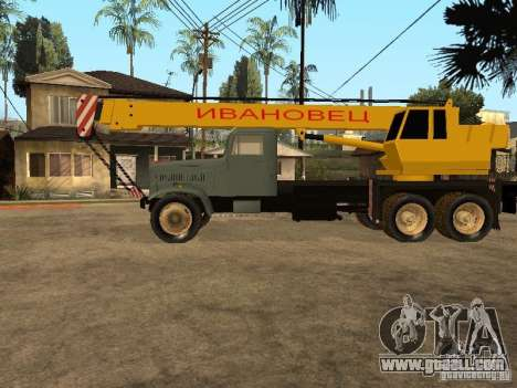KrAZ truck for GTA San Andreas left view