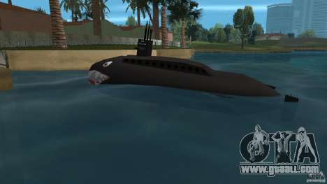 Vice City Submarine with face for GTA Vice City left view