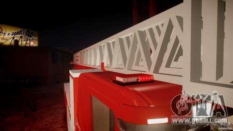 Scania Fire Ladder v1.1 Emerglights red [ELS] for GTA 4 engine