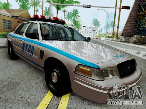 Ford Crown Victoria 2003 NYPD White for GTA San Andreas back view