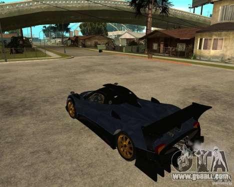 Pagani Zonda R for GTA San Andreas left view