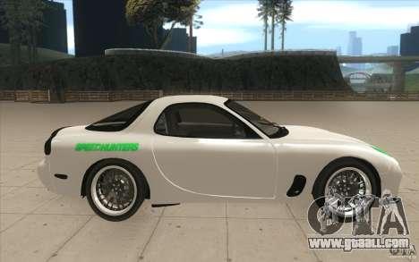 Mazda FD3S - Ebisu Style for GTA San Andreas inner view