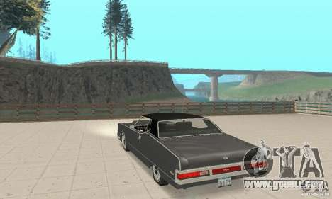 Mercury Marquis 2dr 1971 for GTA San Andreas back left view