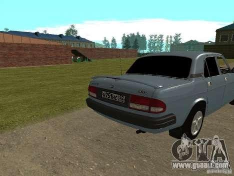 Volga GAZ 3110 for GTA San Andreas back left view