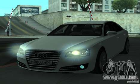 Audi A8 for GTA San Andreas side view