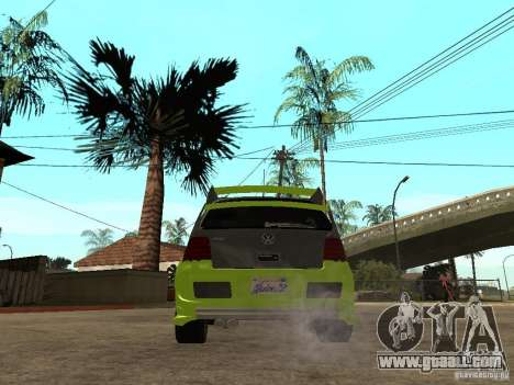 Volkswagen Golf IV R32 Tuned Juiced 2 for GTA San Andreas back left view