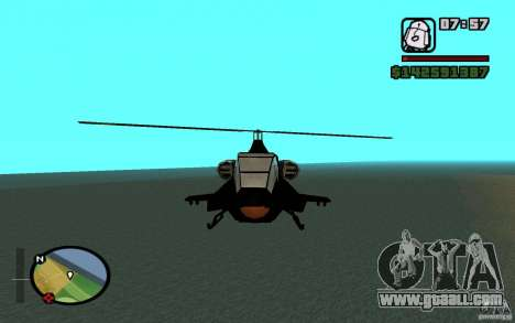 Urban Strike helicopter for GTA San Andreas left view