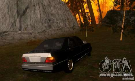 Mercedes-Benz 600SEL v2.0 for GTA San Andreas right view
