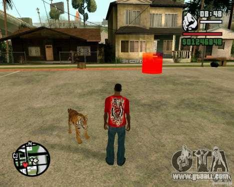 Tiger in GTA San Andreas for GTA San Andreas