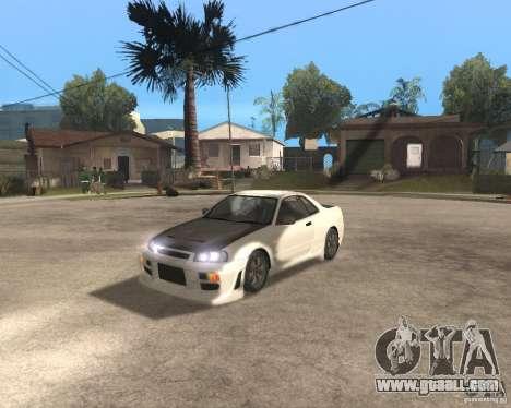 Nissan Skyline R-34 TUNED for GTA San Andreas
