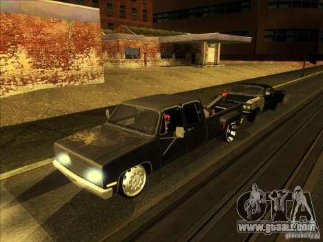 Chevrolet Silverado Towtruck for GTA San Andreas upper view