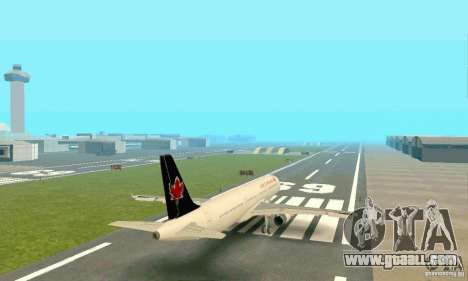 Airbus A321 Air Canada for GTA San Andreas back view