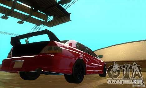 Mitsubishi Lancer Evolution IX Carbon V1.0 for GTA San Andreas left view