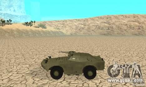 BRDM-1 Skin 1 for GTA San Andreas back left view