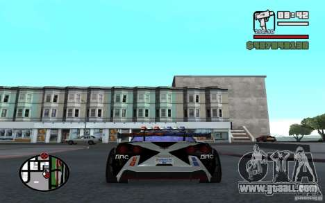 Cross Corvette C6R English for GTA San Andreas back left view