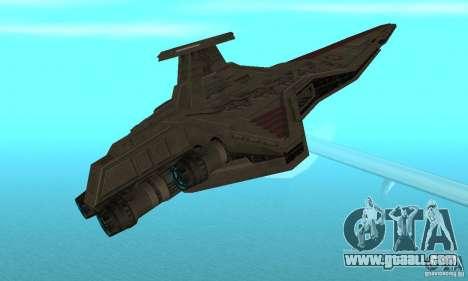 Republic Attack Cruiser Venator class v3 for GTA San Andreas right view