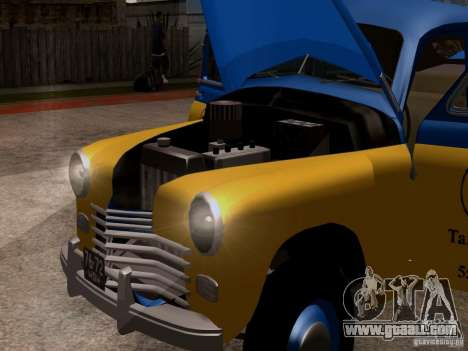 GAZ M20 Pobeda Taxi for GTA San Andreas back view
