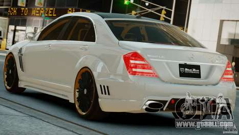 Mercedes-Benz S Class W221 Black Bison 2009 for GTA 4 left view