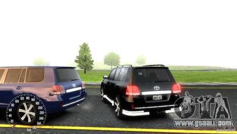 Toyota Land Cruiser 200 RESTALE for GTA 4 inner view