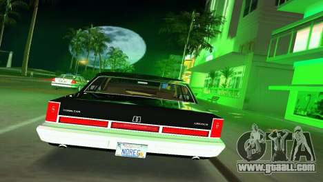 Lincoln Town Car 1997 for GTA Vice City right view