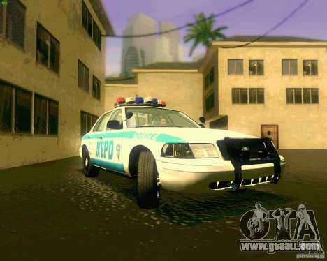 Ford Crown Victoria 2003 NYPD police for GTA San Andreas
